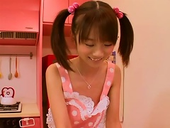 Cute Pigtailed Japanese Teen Gets Her  Fingered