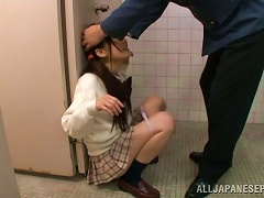 Japanese Teen Gets Fucked By A Police Officer In A Toilet