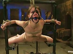 Brown-haired Sweety Gets Bonded And Toyed In Bondage Vid