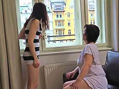 Oldnanny Mature And Pretty Teen Is Playing With Strapon